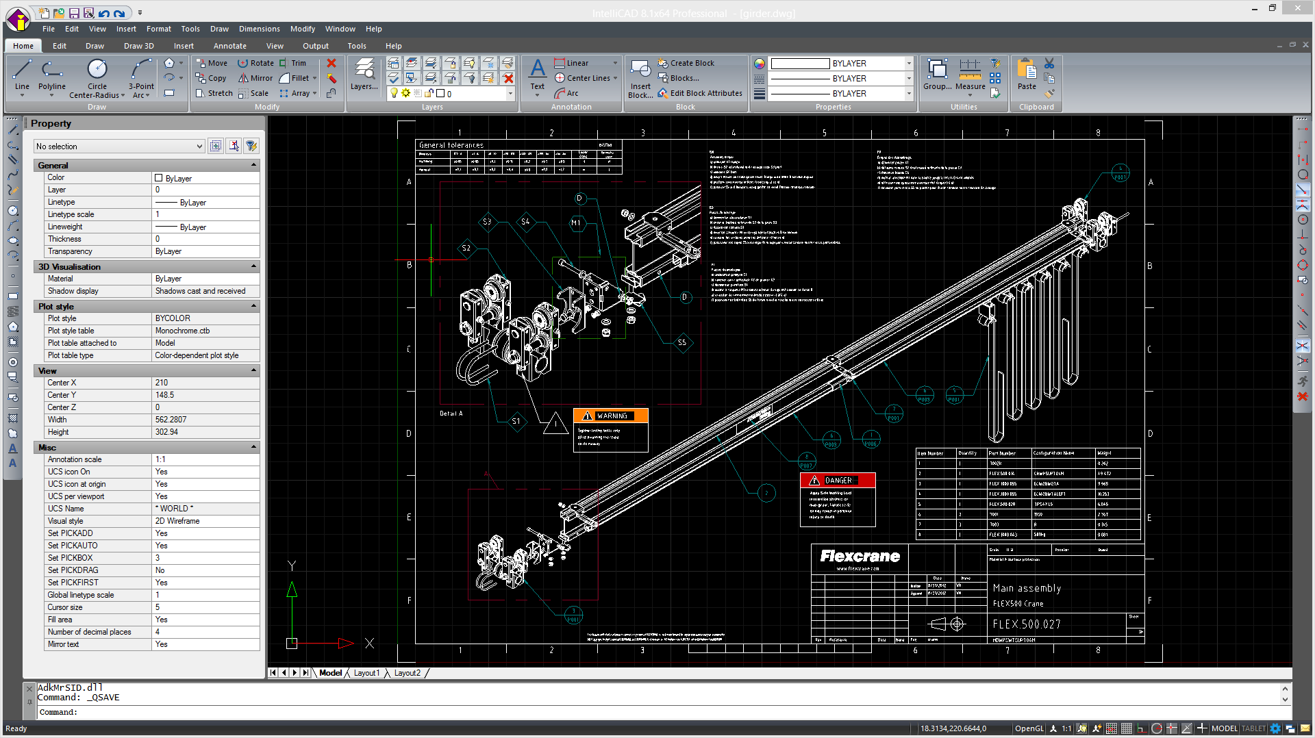 CMS IntelliCAD PE Software CAD - Interfaz usuario