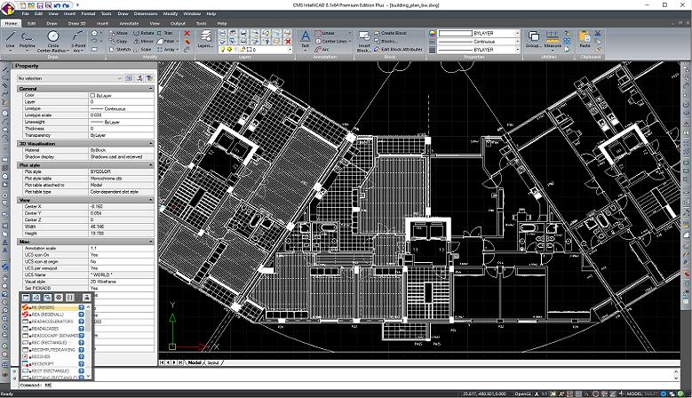 CMS IntelliCAD PE Software CAD - Interface de utilizador